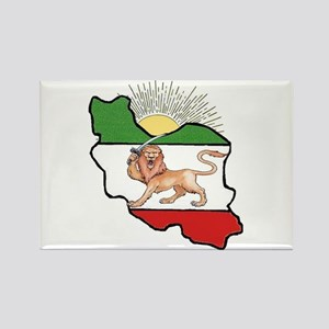 Iran Flag-Map & Sun Rectangle Magnet