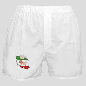Iran Flag-Map & Sun Boxer Shorts