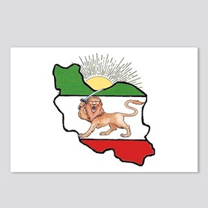 Iran Flag-Map & Sun Postcards (Package of 8)