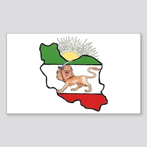 Iran Flag-Map & Sun Rectangle Sticker