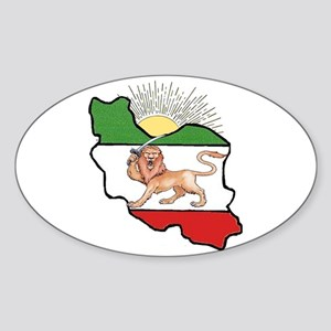 Iran Flag-Map & Sun Oval Sticker