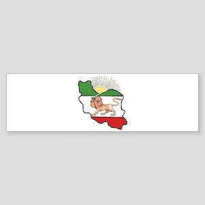 Iran Flag-Map & Sun Bumper Sticker