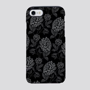 Black Dahlia Pattern iPhone 7 Tough Case