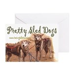 MCK Pretty Sled Dogs Greeting Cards (Pk of 10)
