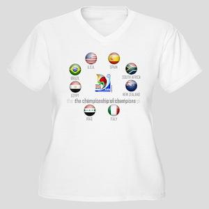 Confederations Cup '09 Women's Plus Size V-Neck T-