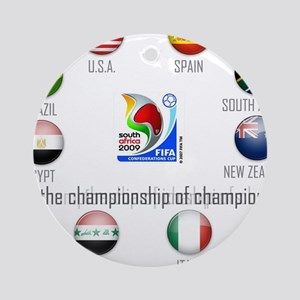 Confederations Cup '09 Ornament (Round)