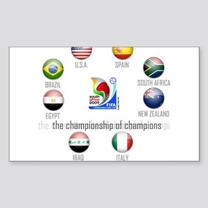 Confederations Cup '09 Rectangle Sticker