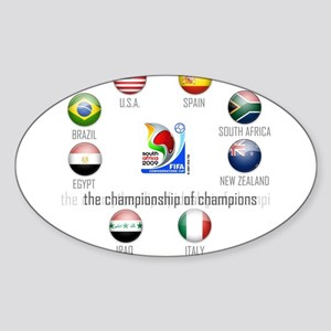 Confederations Cup '09 Oval Sticker