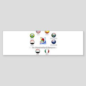 Confederations Cup '09 Bumper Sticker