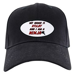my name is kolby and i am a ninja Baseball Hat