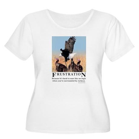 Frustration Women's Plus Size Scoop Neck T-Shirt