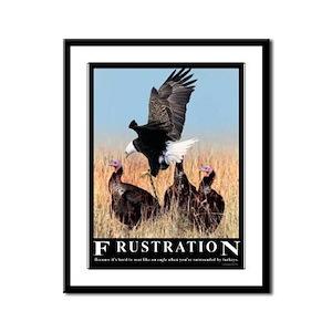 Frustration Framed Panel Print