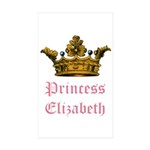 Princess Elizabeth Rectangle Sticker 50 pk)
