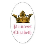 Princess Elizabeth Oval Sticker