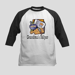 Grandma's Helper Baking Kids Baseball Jersey