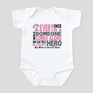 HERO Comes Along 1 Mom BREAST CANCER Infant Bodysu