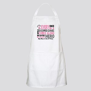 HERO Comes Along 1 Mom BREAST CANCER BBQ Apron