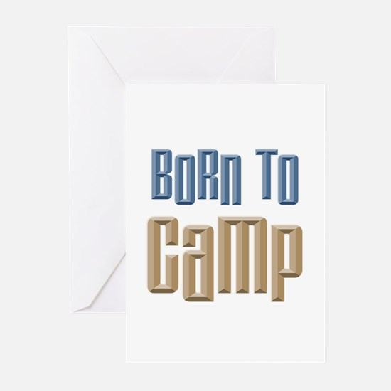 Born to Camp Greeting Cards (Pk of 10)