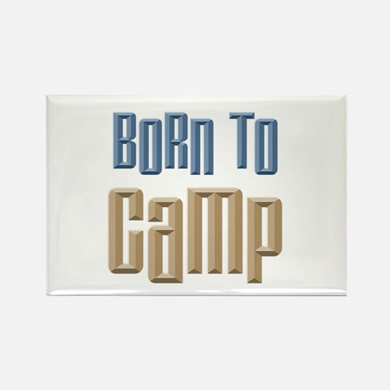 Born to Camp Rectangle Magnet (100 pack)