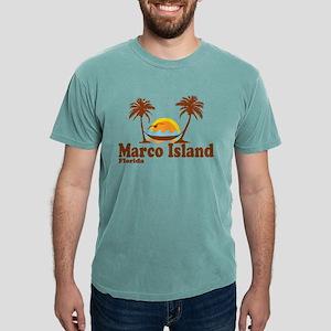 Marco Island FL - Sun and Palm Trees Design T-Shir