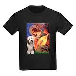 Mandolin / Beardie #1 Kids Dark T-Shirt