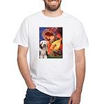 Mandolin / Beardie #1 White T-Shirt