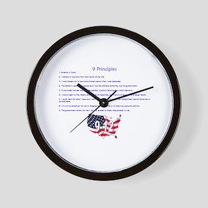 9 Principles 12 Values Wall Clock