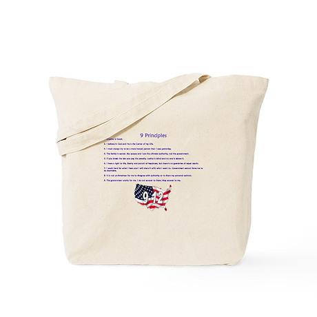 9 Principles 12 Values Tote Bag