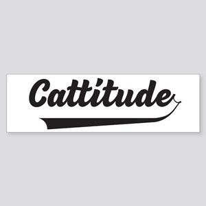 Cattitude Bumper Sticker
