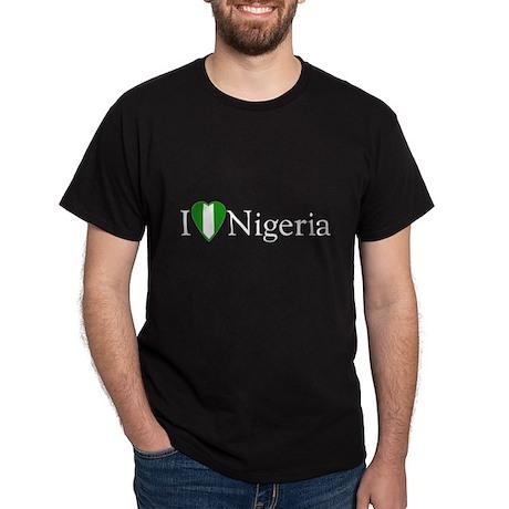 I Love Nigeria Dark T-Shirt