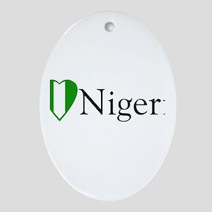 I Love Nigeria Oval Ornament
