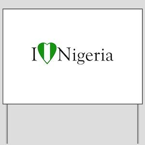 I Love Nigeria Yard Sign