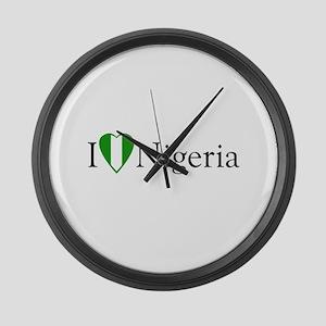 I Love Nigeria Large Wall Clock