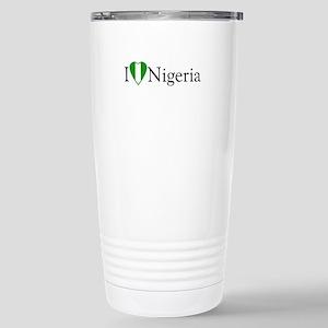 I Love Nigeria Stainless Steel Travel Mug