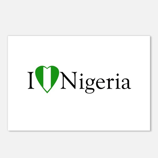 I Love Nigeria Postcards (Package of 8)
