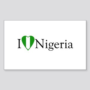 I Love Nigeria Rectangle Sticker