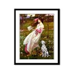 Windflowers / Dalmatian #1 Framed Panel Print