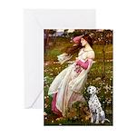 Windflowers / Dalmatian #1 Greeting Cards (Pk of 1
