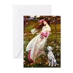 Windflowers / Dalmatian #1 Greeting Cards (Pk of 2