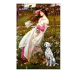Windflowers / Dalmatian #1 Postcards (Package of 8