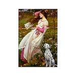 Windflowers / Dalmatian #1 Rectangle Magnet (100 p