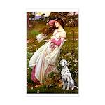 Windflowers / Dalmatian #1 Sticker (Rectangle)