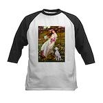 Windflowers / Dalmatian #1 Kids Baseball Jersey