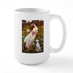Windflowers / Dalmatian #1 Large Mug