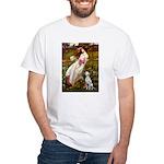 Windflowers / Dalmatian #1 White T-Shirt