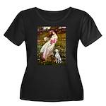 Windflowers / Dalmatian #1 Women's Plus Size Scoop