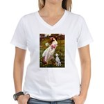 Windflowers / Dalmatian #1 Women's V-Neck T-Shirt