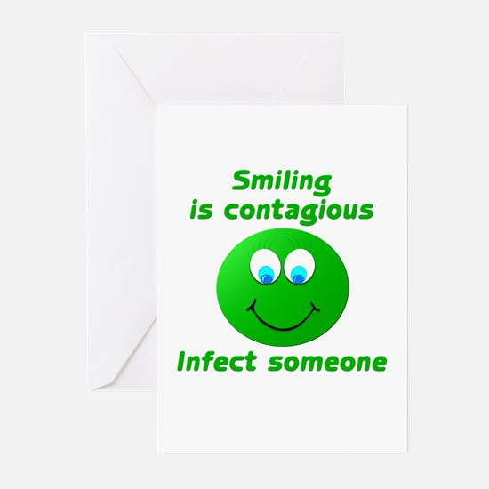 Smiling is contagious #3 Greeting Cards (Pk of 10)