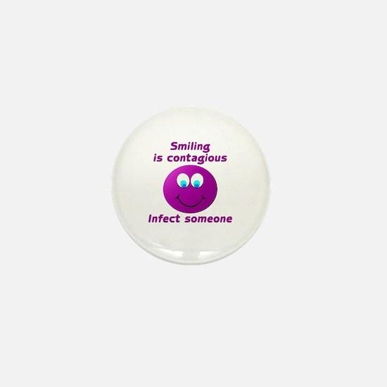 Smiling is contagious #5 Mini Button