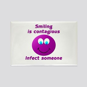 Smiling is contagious #5 Rectangle Magnet